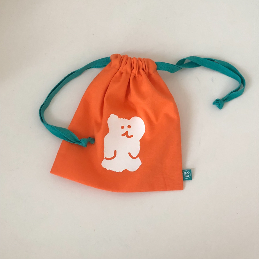 ORANGE BOBO STRING POUCH