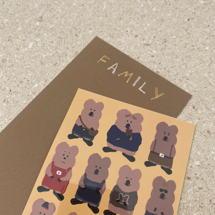 We are Family Sticker
