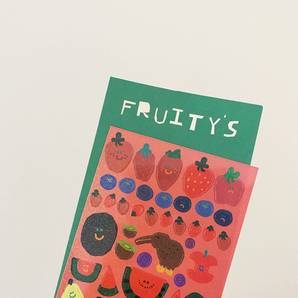 Fruity's Glitter Sticker