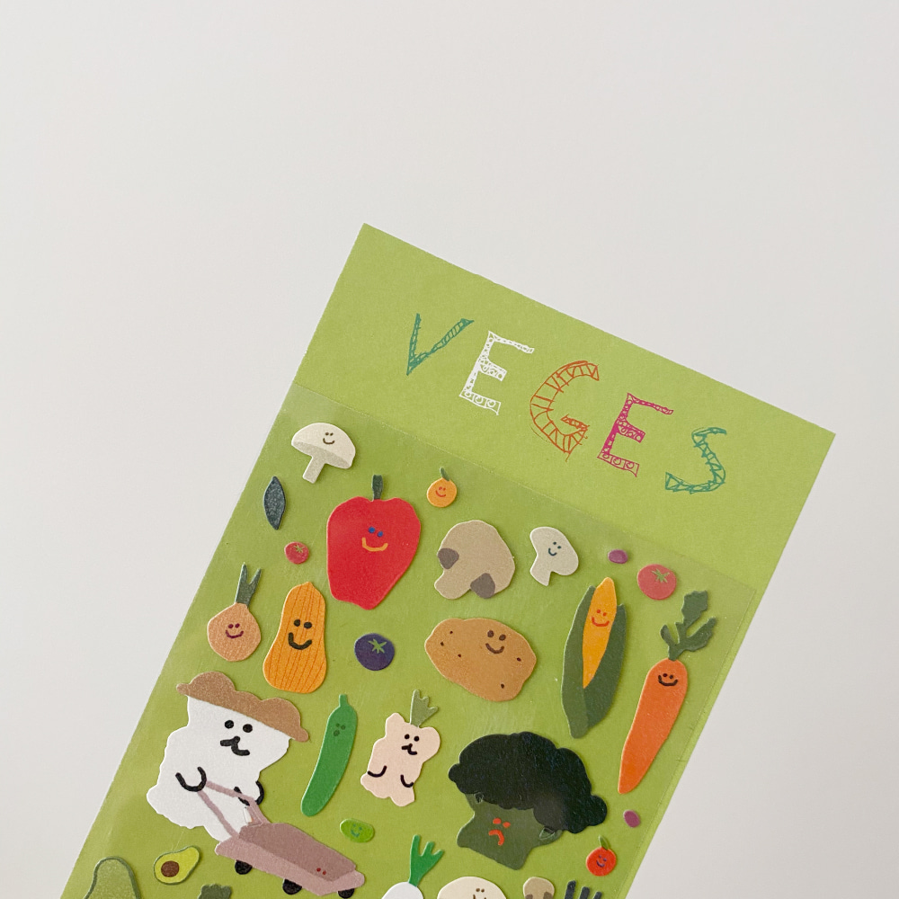 Veges Glitter Sticker