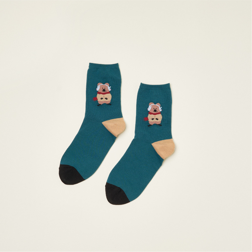 Earmuff Quokka Single Socks