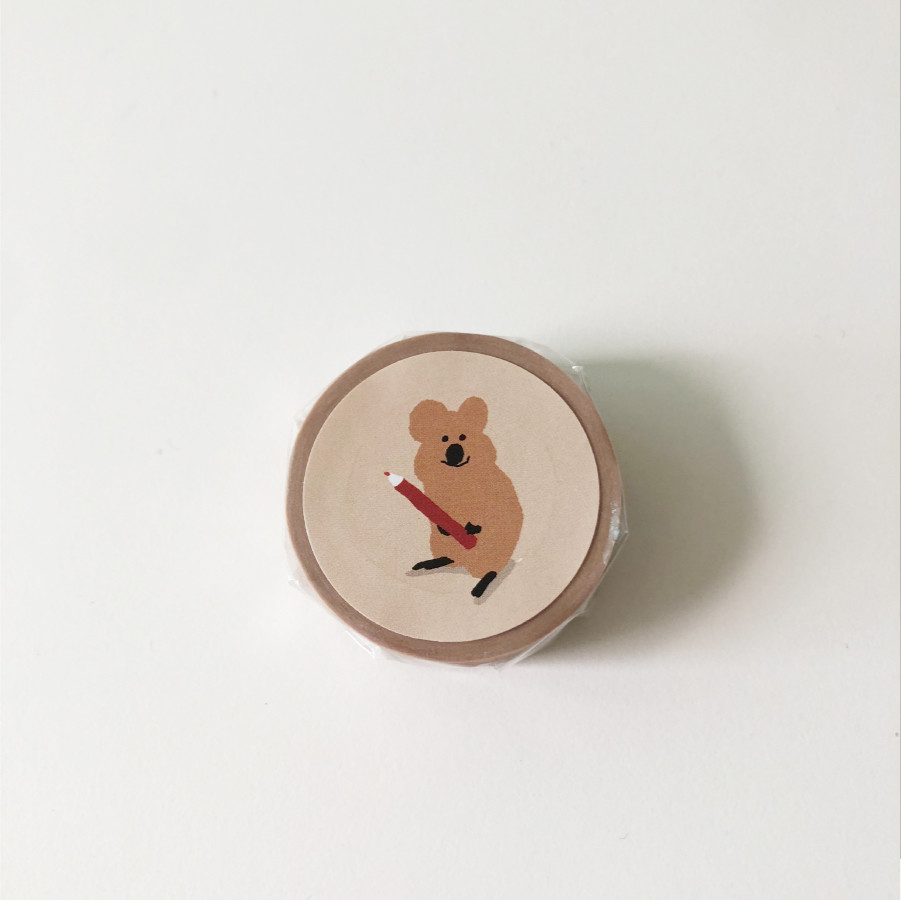 Pencil Quokka Masking Tape