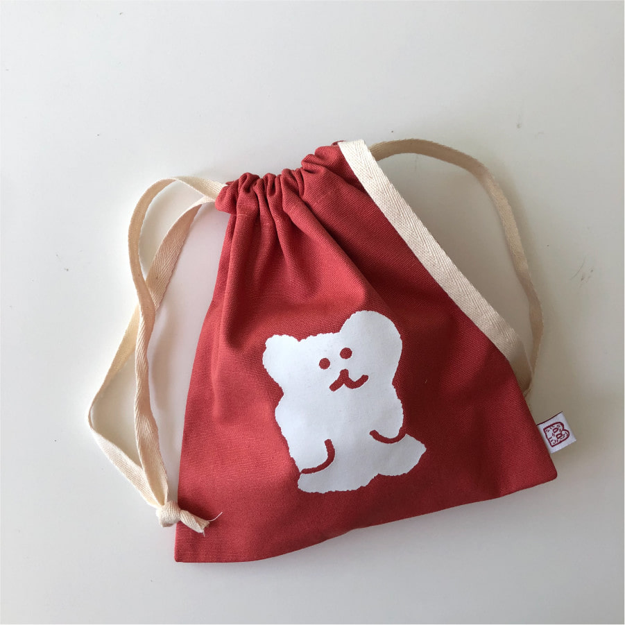 STRAWBERRY BOBO STRING POUCH